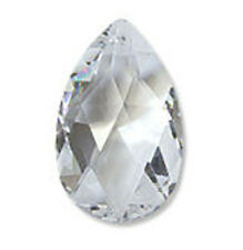 Suncatcher Crystal - Teardrop Shaped Faceted Pendant One Hole 50mm x 30mm