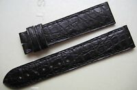 GENUINE CARTIER WATCH STRAP BAND BLACK ALLIGATOR LEATHER 17.40 mm x 16 mm NEW