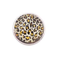 ANDANTE Druckknopf Click Button CHUNK Leopard Leo Schwarz Weiß #4214 + GESCHENK