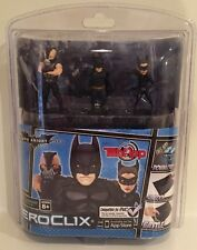 """DC HEROCLIX TAB APP """"BATMAN DARK KNIGHT RISES"""" 3-PACK SET NEW WIZKIDS NECA 2012"""
