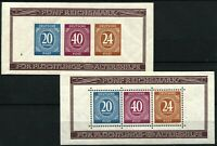 GERMANY #B294 #B295 Semi-Postal Souvenir Sheets Stamps Postage 1946 MINT NH OG