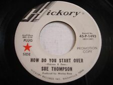 PROMO Sue Thompson How Do You Start Over / Why Not 1968 45rpm VG+
