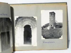 66 Antique Sepia & B/W Photographs of Yorkshire CHURCHES in Album #YC
