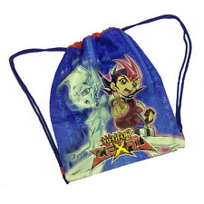 YU-GI-OH Bolsa mochila con cordón de tela pesado azul impreso 41,5x33 cm