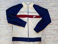 Super Rare VTG 80s Nike Men's Made in UK Full Zip Knit Athletic Track Jacket M/L