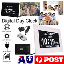 "7"" LED Clock Large Digital Wall Calendar Dementia Date Day Week Month Year Time"