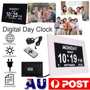 Digital Day Clock Alarm LED Calendar Dementia Time Date Month Year Memory Loss