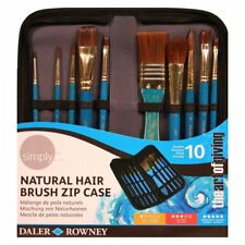 Daler Rowney Simply 10 Piece Natural Hair Brush Zip Case