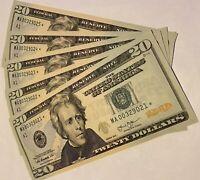 ONE (1) STAR NOTE $20 DOLLAR BILL (MOST RARE) BOSTON DIST 2013, GEM UNCIRCULATED