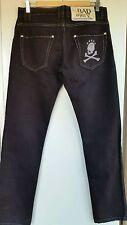jeans uomo BAD SPIRIT 44 31 NEW 190€ pantaloni neri teschio bad boy desigual