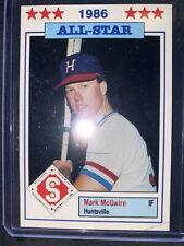 Mark McGwire 1986 Southern League All-Star - Minor League Card Huntsville Stars