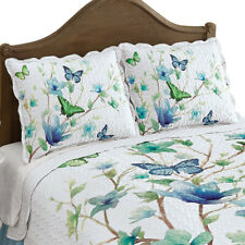 Blue Butterfly Blossom Scalloped Pillow Sham, by Collections Etc