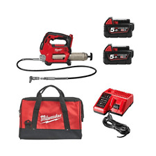 Milwaukee M18GG-502B 18 V Cordless Grease Gun 2 5ah Batteries Chargeur et sac