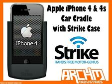 STRIKE ALPHA APPLE IPHONE 4 & 4s CAR CRADLE WITH STRIKE CASE - BUILT-IN CHARGER