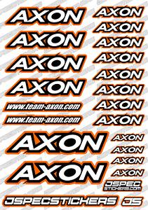 AXON RC STICKER DECAL SHEET JSPEC STICKERS SPUR GEAR PINION OPTION RC CRAWLER