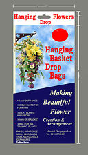 Hanging Garden Flowers Herbs Strawberry Trailing Geraniums marigold 12 Planters