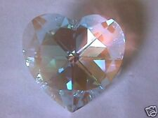Swarovski Crystal AB Prisim Heart Pendant Bead 40mm