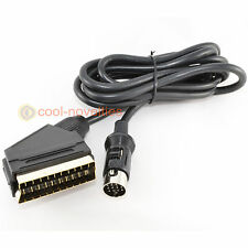 ATARI ST QUALITY GOLD RGB SCART LEAD / VIDEO CABLE - 2 METRES