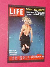 CPA CINEMA CARTE POSTALE MARILYN MONROE POSTCARD LIFE EN ESPAÑOL