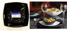 Luminarc Quadrato Black Salad Serving Bowl Square Arc Glass dinnerware France