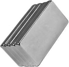 4 Neodymium Magnets 1 x 1/2 x 1/8 inch Block N48