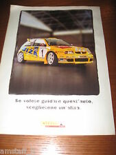 *AH62=SEAT IBIZA WRC=PUBBLICITA'=ADVERTISING=WERBUNG=COUPURE=