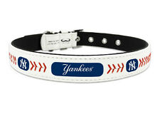 New York Yankees Small Leather Lace Dog Collar [NEW] NY MLB Pet Cat Lead CDG