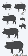 """Primitive Pig STENCIL with 8 total--1""""-8""""   Farm Country Veterinary Pets"""