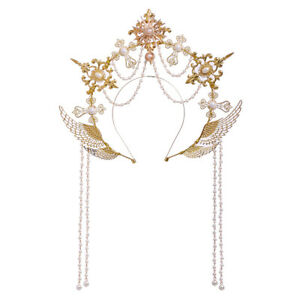 Women Halo Crown Baroque Style Headband Goddess Virgin Mary Bride Headpiece