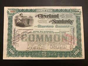 1905 CLEVELAND & SANDUSKY BREWING CO. Stock Certificate C&S Pure Beer Pre-Prohib