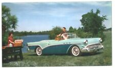 1957 BUICK SPECIAL CONVERTIBLE - Original Ad Postcard - Hard to find