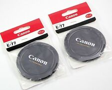 New 77mm Snap-On Front Lens Cap Canon Ultrasonic EOS DSLR Camera X 2 pcs.