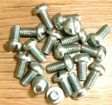 "4BA x 1/4""  Steel Roundhead slotted Screw - Zinc Plated - 4BA"