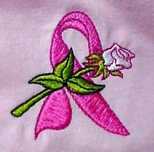 Ribbon Rose Sweatshirt 2XL Pink Crew Neck Breast Cancer Awareness Unisex New