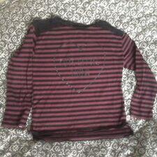Zara Top Long Sleeve Cotton Stripe Age 7-8 Years