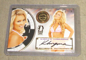 KIRSTY LINGMAN 2014 INDUSTRY SUMMIT 3/10 Benchwarmers Autograph Card Gold Seal