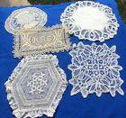 LOT%3A+5+Antique++Handmade+Lace+Doily+Coaster+Battenberg%2C+Normandy%2C+embroider+