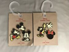 Disney Mickey Mouse Enamel Pins by Junk Food Brand New 2 Sets of 3 Pins