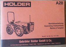 Holder Betriebsanleitung A 28