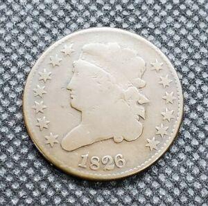 1826 Classic Head Half Cent | CHOICE GOOD (G+) to VERY GOOD
