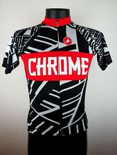 Castelli 2014 Chrome Coveted Death Spray Custom Full-Zip Cycling Jersey M/Sm