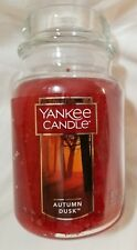 Yankee Candle AUTUMN DUSK Large Jar 22 Oz New Housewarmer Red Smokey Spice