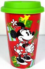Disney Travel Mug MINNIE MOUSE Kcare Christmas Ceramic with Silicone Lid
