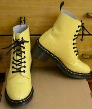 Dr Martens Clemency, Womens Acid Yellow Heels Patent Shoes, Size UK 7, EU 41