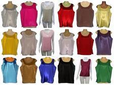 Ladies Thai Silk Sleeveless Blouses / Thai Size XL  / UK Size 18 / FREE POST