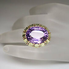 Ring mit einem Amethyst Stein in 585/14K Bicolor Gelb-/Rosegold Handarbeit