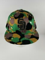 Vintage San Diego Padres New Era 59 Fifty Hat 7 5/8 Camo Fitted (Suede Black)
