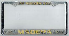 SUPER RARE Madera California Ford Mercury Vintage Dealer License Plate Frame