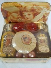 Nos in Victorian Angel Design Tin - Cranberry Scented Bath + Body Gift Set