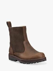 Timberland Courmakid Warmlined DARK BROWN Leather  A28MT Zip Boot